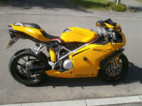 Beautiful 749 Yellow Ducati Sports Bike