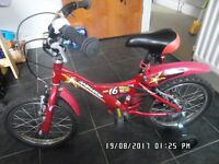 "Giant Boy's bike 16"" for sale - £30 + helmet and training wheels for free"