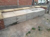 62 and 3 half's of Smooth Natural grey 600 x 600 x 380mm concrete Paving Slab