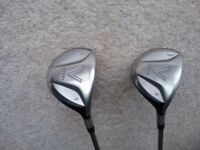 Taylormade V Steel 3 and 5 Woods