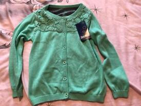 Girls Green cardigan 12-24 mths brand new with tag.