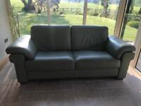 Natuzzi leather sofa 4 seater and 3 seater and foot stool