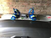 Kids snowboard and bindings 139cm