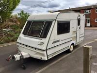 Abbey County 2 birth full awning end kitchen very light towing 800kg immaculate condition