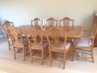Sensible offers invited..Beautiful Yew Extending Dining Table & 8 Chairs...