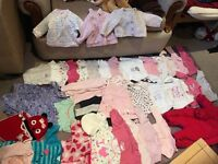 Bundle of baby girl clothes 0-3 months for sale!!!!!!Must go asap!!!