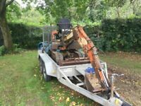 Nissan mini digger and trailer