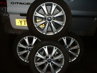 4 Ford ally wheels and good tyres