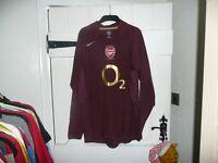 Arsenal LARGE RARE LONG SLEEVED HIGHBURY HOME Football Shirt 2005 BNWOT WRIGHT 8