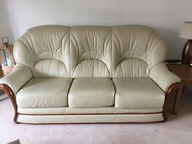 3 piece leather sofa and chair
