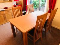 Next Cambridge Oak Extendable Table and Six Chairs
