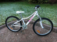 Girls Giant 24 inch bike, white colour