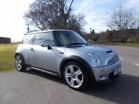 2005 55 MINI COOPER S 1.6 METALLIC SILVER WITH BLACK LEATHER