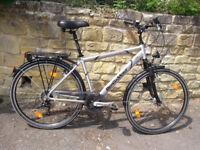 Bergamont City Bike Silver Shimano Dynohub Lights Rack Mudguards Schwalbe Tyres