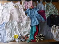 Mixed bundle of good, clean clothes to fit girl aged 9-12 months. From smoke free home.