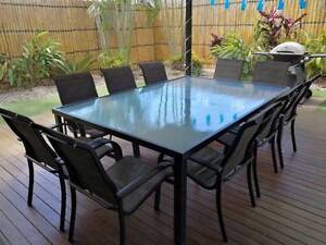11pc Glass top outdoor table setting Murrumba Downs Pine Rivers Area Preview