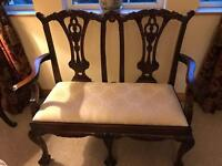 Antique style 2 seat occasional chair