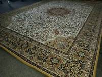 "Large Kashan Style Border Rug approx ""6 X""5."