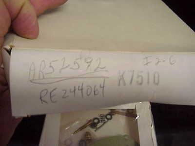 JOHN DEERE CARBURETOR KIT FOR TSX AR52592 RE244064 - $29.95
