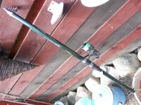 telescopic 13ft rod with japanes reel and extra spool.