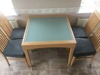Extending Table and Chairs - Beechwood
