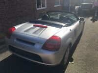 2004 TOYOTA MR2 1.8 VVTi MANUAL IN SILVER BREAKING FOR PARTS