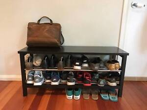 Minimalist bench with shoe storage / Ikea model Tjusig Coogee Eastern Suburbs Preview