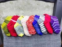 Kids hand knitted socks