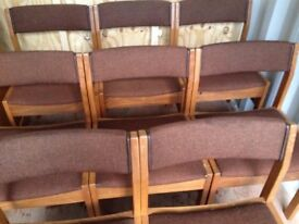 4 strong matching chairs £25 will deliver free of charge