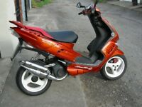 PEUGEOT SPEEDFIGHT 2. 50CC. 12 MONTHS MOT LOTS OF NEW PARTS FITTED.