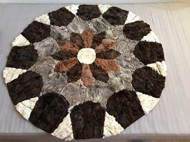 Soft sheep skin rug