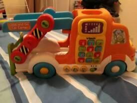 Vtech toot toot lorry car carrier