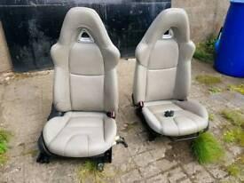 Mazda rx8 cream leather seats