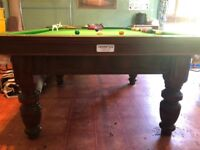 Ashcroft three-quarter size tulip leg snooker table
