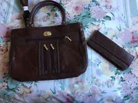 New ladies leather handbag