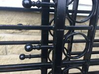 Beautiful iron gates slightly damaged