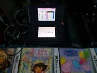 Black ds come with case plus 25 games