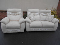 Two seater sofa and armchair. Could deliver