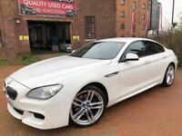 BMW 6 SERIES 640D M SPORT GRAN COUPE (white) 2013
