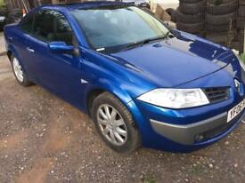 2006 RENAULT MEGANE DYNAMIQUE 1.5 DCI 106 BLUE PAN ROOF CONVERTIBLE