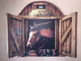 Stunning horse mural for sale