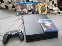 Playstation 4 PRO 1 TB 4K with Game and movies