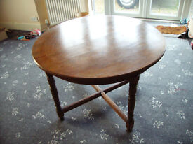 Small solid mahogany antique dining table