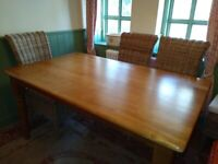 6 place Farmhouse Kitchen Table