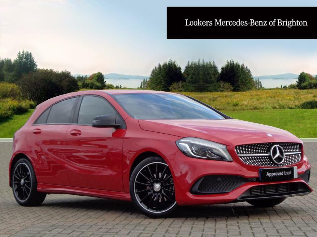 mercedes benz a class a 200 d amg line premium red 2016. Black Bedroom Furniture Sets. Home Design Ideas