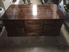 Solid Polished Oak Coffee Table