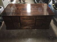 Solid Polished Oak Coffee Table