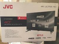 "Excellent condition top brand 40"" JVC 4K smart Tv"