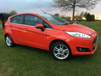 RED FORD FIESTA 1.25 5 DOOR ZETEC