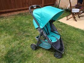Graco Evo Mini pram / stroller green blue